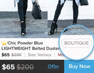 What does the Boutique tag mean?